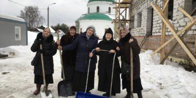 Трудовая помощь и Прощеное воскресение в монастыре