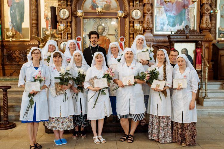 Окончание курсов сестер милосердия